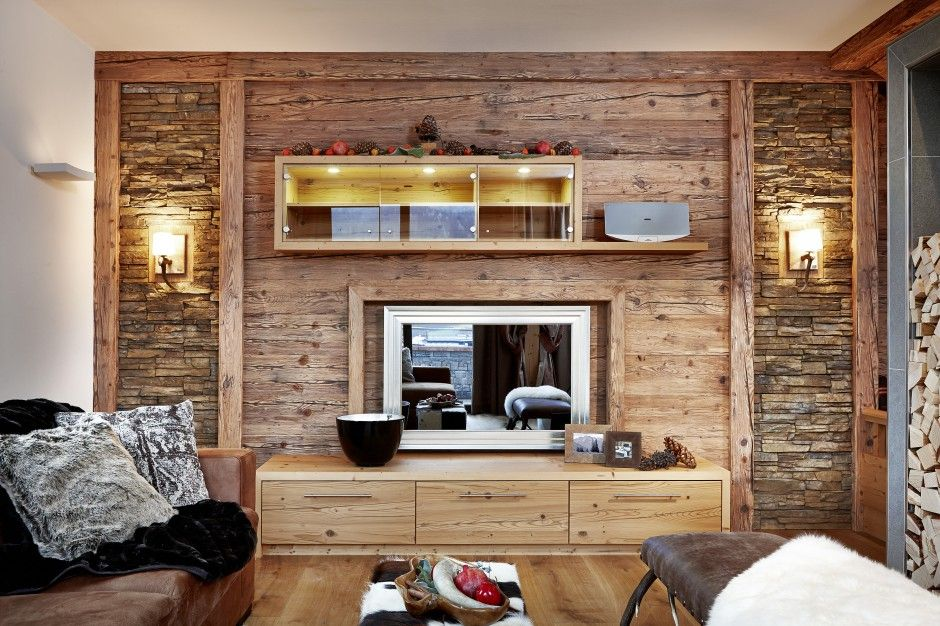 52 Top Wohnzimmer Wand Altholz